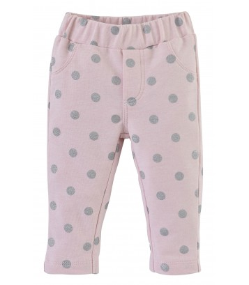ENSEMBLE PANTALON FILLE ECRU/ROSE Sucre Orge