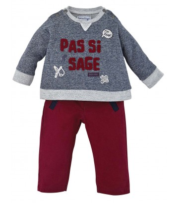 RED/BLUE BABY SWEATSHIRT + TROUSERS Sucre Orge