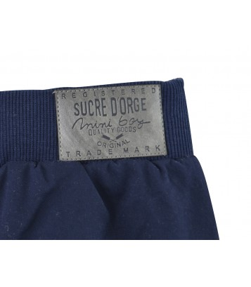NAVY BLUE/RED BABY TROUSERS + T-SHIRT Sucre Orge
