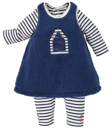 STRIPED/BLUE DRESS + OVERALL Sucre Orge