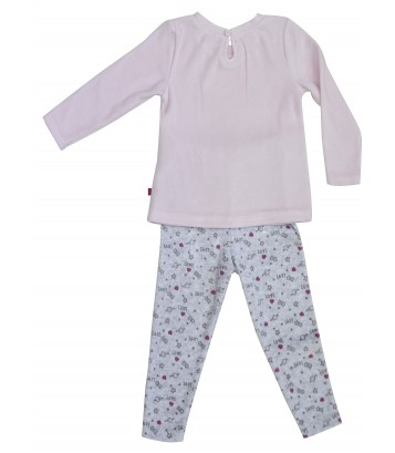 PINK/GREY GIRL PYJAMAS 2/8 YEARS Sucre Orge