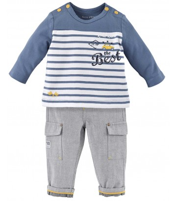 "BABY TROUSERS + T-SHIRT ""MOTOR CLUB"" Sucre Orge"