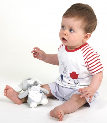 """DOG"" BABY BOY SHORTS + T-SHIRT Sucre Orge"