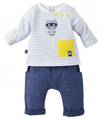 """CAT"" BABY BOY TROUSERS + T-SHIRT Sucre Orge"