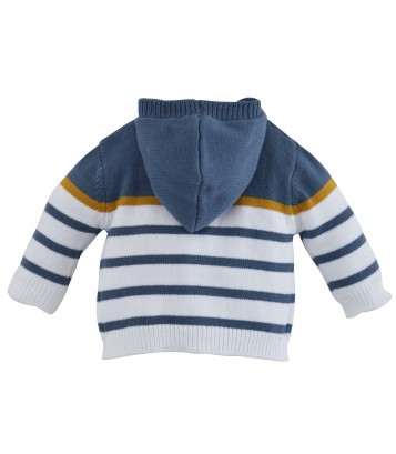 "BABY HOODED CARDIGAN ""MOTOR CLUB"" Sucre Orge"