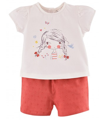 "BABY T-SHIRT + SHORTS ""LOVELY GIRL"" Sucre Orge"