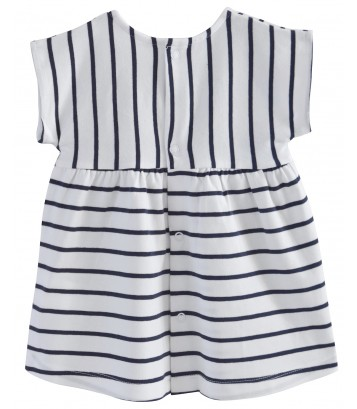 "BABY STRIPED DRESS ""FLAMINGO"" Sucre Orge"