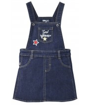 """GIRL POWER"" DENIM DRESS Sucre Orge"
