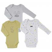 GREY/YELLOW BABY 3 BODIES SET