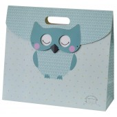 "TURQUOISE BLUE ""HIBOU"" BAG GIFT SUCRE D ORGE"