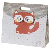 "BEIGE ""FOX"" BAG GIFT WITH FLAP SUCRE D'ORGE"