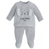 GREY 2-PIECES BABY SLEEPSUIT
