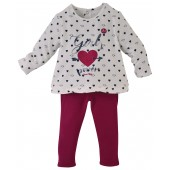 "BABYGIRL ""HEARTS"" TROUSERS + TUNIC"