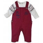 RED BABY DUNGAREE + T-SHIRT