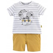 YELLOW BABY BERMUDAS+T-SHIRT