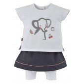 """ELEPHANT"" T-SHIRT + SKIRT"