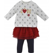 RED BABY SKIRT SET