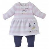 STRIPED PINK BABY ALL-IN-ONE