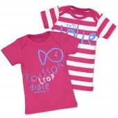 FUCHSIA 2 T-SHIRTS SET
