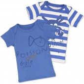 BLUE 2 T-SHIRTS  SET