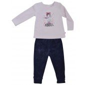 DARK GREY/PINK GIRL PYJAMAS 2/8 YEARS