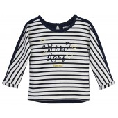 STRIPED/NAVY GIRL T-SHIRT