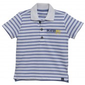 BLUE LINED POLO SHIRT