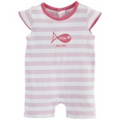 PINK STRIPED SHORT ALL-IN-ONE