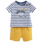 "BABY SHORTS + STRIPED T-SHIRT ""MOTOR CLUB"""