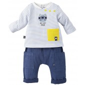 """CAT"" BABY BOY TROUSERS + T-SHIRT"