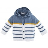 "BABY HOODED CARDIGAN ""MOTOR CLUB"""