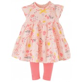 "BABY PRINTED DRESS + LEGGINGS ""FLEURS SAUVAGES"""