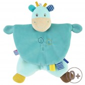 """GIRAFFE"" BLUE ACTIVITIES COMFORTER"