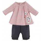"BABY TUNIC + SHORT TROUSERS ""LOVELY GIRL"""