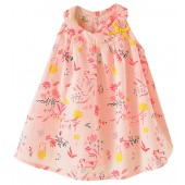 "BABY PRINTED DRESS ""FLEURS SAUVAGES"""