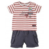 "BABY SHORTS + STRIPED T-SHIRT ""NEW ADVENTURE"""