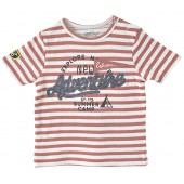 "STRIPED T-SHIRT ""ADVENTURE"""