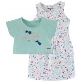 TURQUOISE DRESS SET 2/8 YEARS