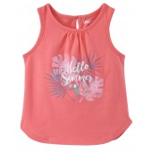 "PRINTED VEST TOP ""TROPICAL SUMMER"""