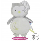 "GREY/ANIS GREEN OWL"" PHOSPHORESCENT SOFT TOY"""