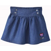 HIBISCUS DENIM SKIRT