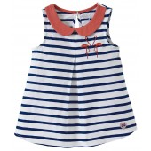 "STRIPED TUNIC ""FLAMANT ROUGE"""