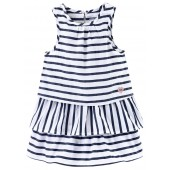 "STRIPED DRESS ""FLAMANT ROUGE"""