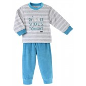 GREY/TURQUOISE BLUE 2 PIECES SLEEPSUIT