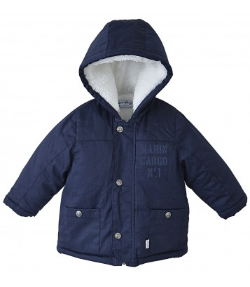 HOODED NAVY COAT Sucre Orge