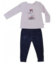 PYJAMA FILLE ANTHRACITE/ROSE  2/8 ANS Sucre Orge