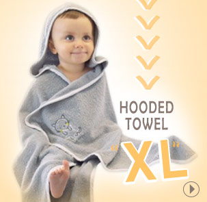 New, Hooded towels XL Sucre d'Orge
