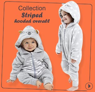 Collection Striped hooded overall