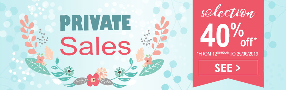 the shop private sales selection in 40%off from 12(10:00AM) to 25/06/2019 Sucre d'Orge